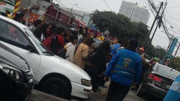El accidente ocurrió la tarde de este lunes.