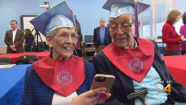 George Ramírez, de 95 años, y su hermana, Ana Ramírez Cruz, de 94 años.