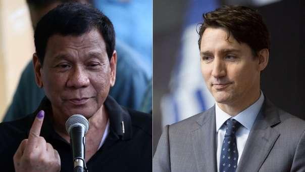 El Gobierno de Rodrigo Duterte (izquierda) finalmente envió de vuelta toneladas de basura a Canadá, luego de roces con el Ejecutivo liderado por Justin Trudeau (derecha),