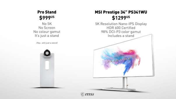 El nuevo monitor de Apple causó controversia por el precio de un accesorio vital.