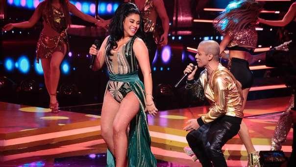 Así fue la presentación de la cantante Maricarmen Marín.