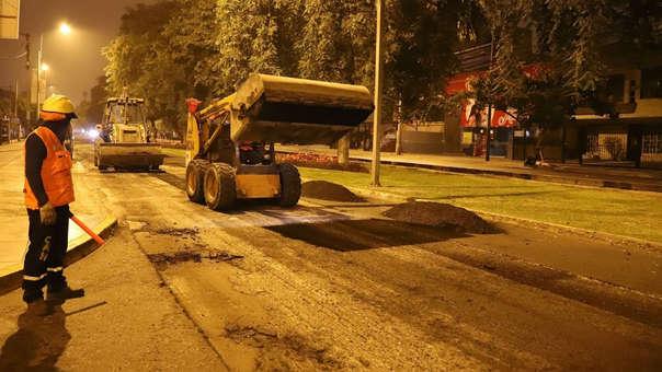 Obras en avenida Del Ejército