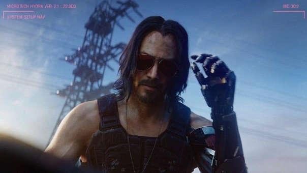 Johnny Silverhand, interpretado por Keanu Reeves.