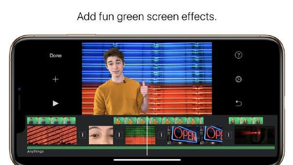 iMovie para iOS ahora puede remover pantalla verde de fondo