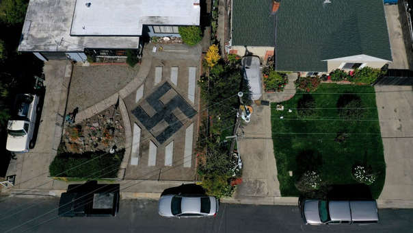 Vista desde el aire del símbolo