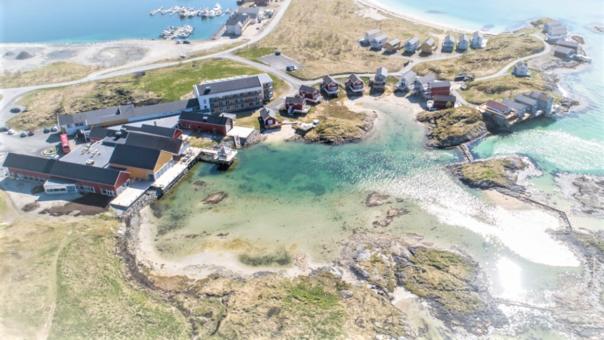 El pequeño pueblo de Sommar, al norte de Noruega