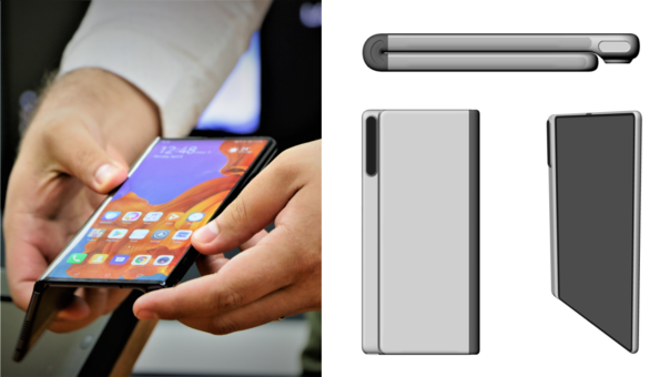 La patente de Huawei muestra nuevos detalles del Mate X2