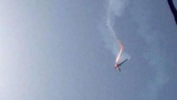 Irán difundió esta foto del drone derribado.