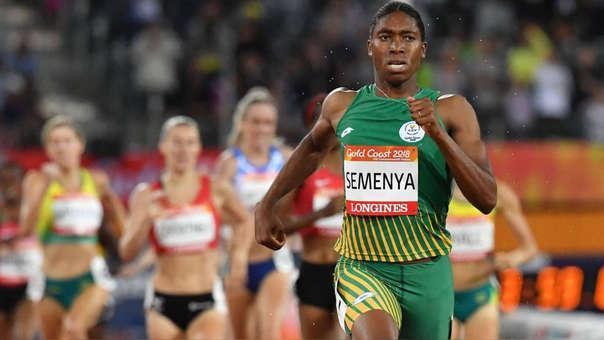 Caster Semenya durante una competencia de atletismo en el 2018.