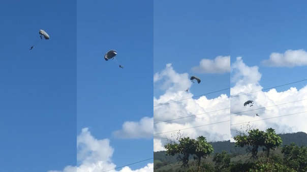 Accidente en entrenamiento de paracaidismo militar