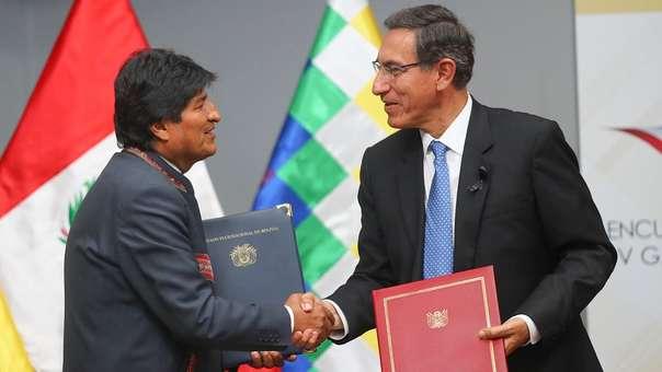 Jefe de Estado inauguró, junto a su homólogo Evo Morales, el V Gabinete Binacional Perú-Bolivia en Ilo, Moquegua.