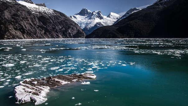 Glaciar en el fiordo Yendegaia, en la Patagonia chilena