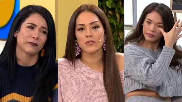 """Magdyel Ugaz lloró al despedirse de """"Mujeres al mando"""" y de Karen Schwarz y Jazmín Pinedo."""