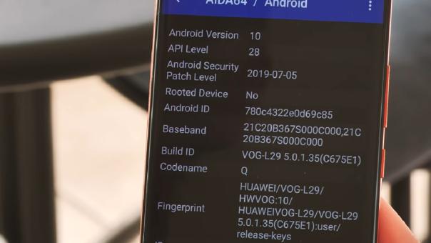 Este P30 Pro VOG-l29 corre Android 10