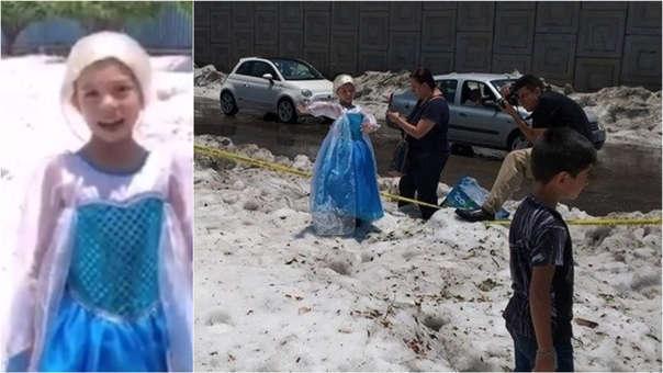 Elsa apareció en Guadalajara.