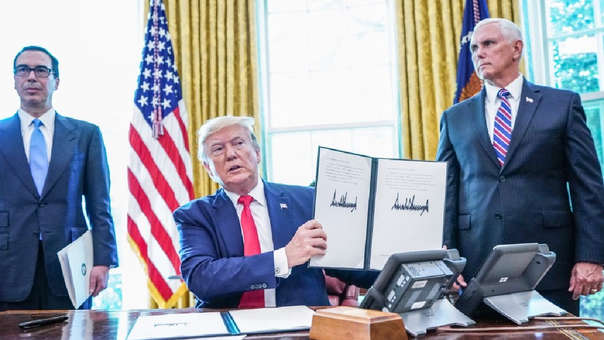 Estados Unidos emitió un comunicado este lunes.