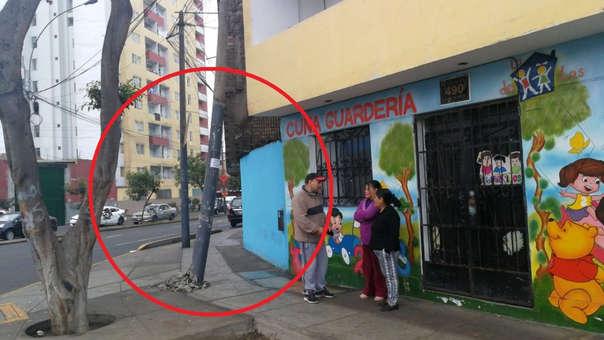Poste pone en peligro a cuna guardería en Cercado de Lima