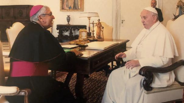 El Arzobispo de Lima destacó la audiencia con el Sumo Pontífice.