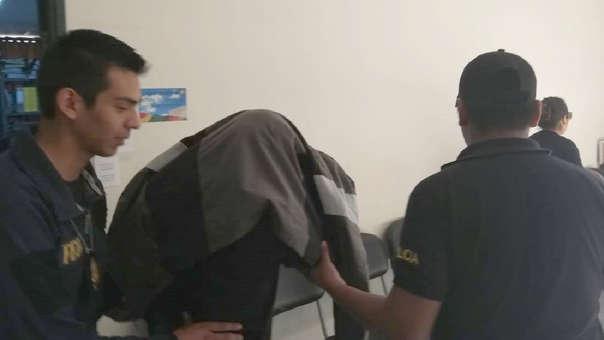 El parricida tras su detención