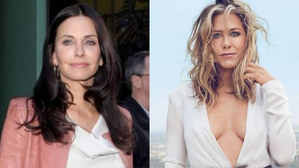 Courteney Cox y Jennifer Aniston se encontraron con otras famosas amigas.