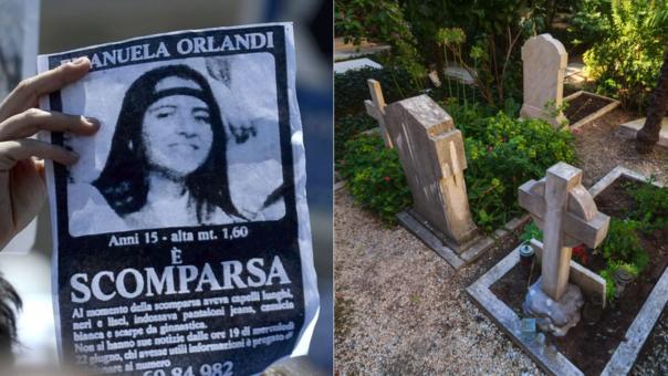 Emanuela Orlandi (izquierda)  desapareció el 22 de junio de 1983. A la derecha, parte del Cementerio Teutónico en El Vaticano