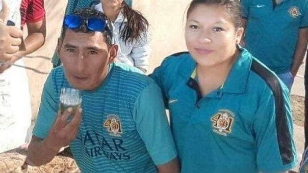 José Salazar Sevillanos y su pareja Evelyn Flores Romero
