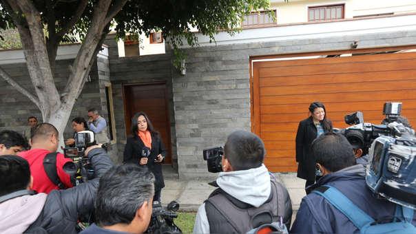 La fiscal Geovana Mori, del Equipo Especial para el caso Lava Jato, lideró la diligencia que llegó a la casa de Nadine Heredia.