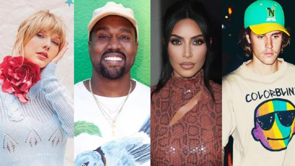 Taylor Swift, Kanye West, Kim Kardashian, Justin Bieber