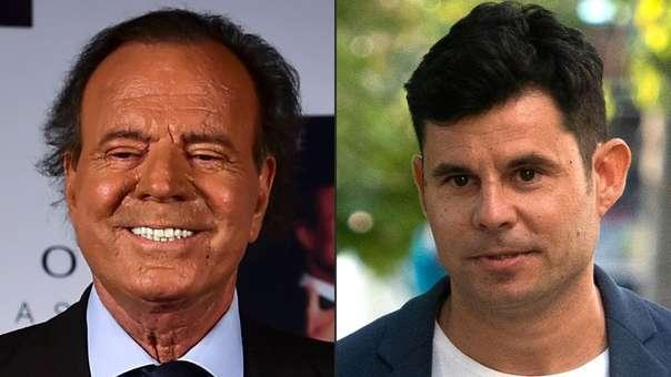 Julio Iglesias y Javier Sanchez Santos, quien acaba de ser reconocido como su hijo.