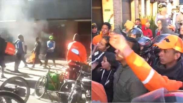 Imágenes de la protesta