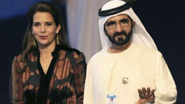 El jeque de Dubadi, Mohammed Al Maktoum, y su esposa Haya de Jordania.