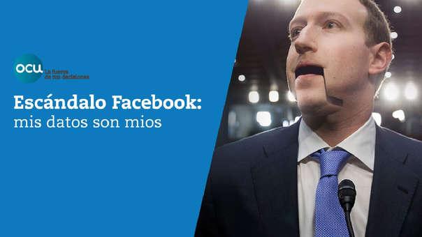 Mark Zuckerberg, CEO de Facebook, aparece así en el site de la OCU