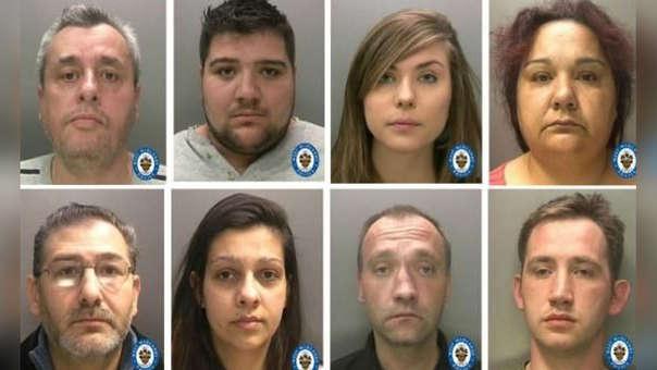 Imagen de los detenidos por el caso