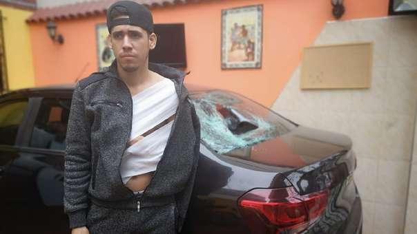 Ronald León denuncia abuso de autoridad y agresión física en Los Olivos.