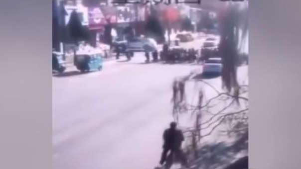 Imagen del video que registró el atropello