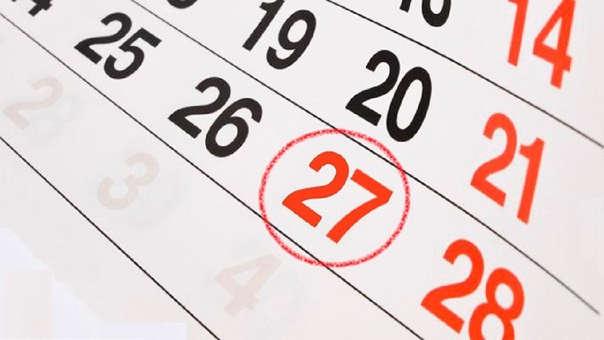 La jornada y día no laborable se suman a los días feriados de 28 y 29 de julio y el día no laborable de 30 de julio.