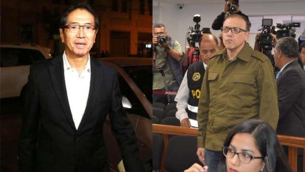 Jaime Yoshiyama (izq.) y Pier Figari (der.) afrontan 36 meses de prisión preventiva por el caso Odebrecht.
