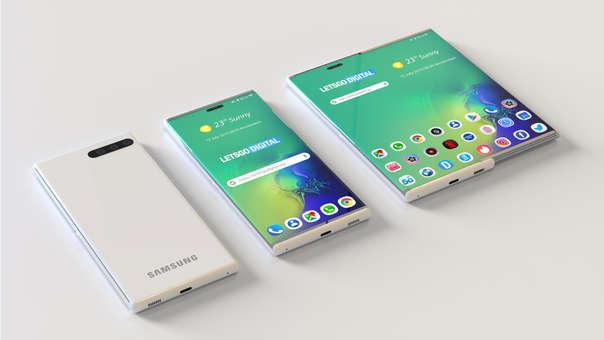 Un nuevo concepto de teléfono plegable ha sido presentado por Samsung