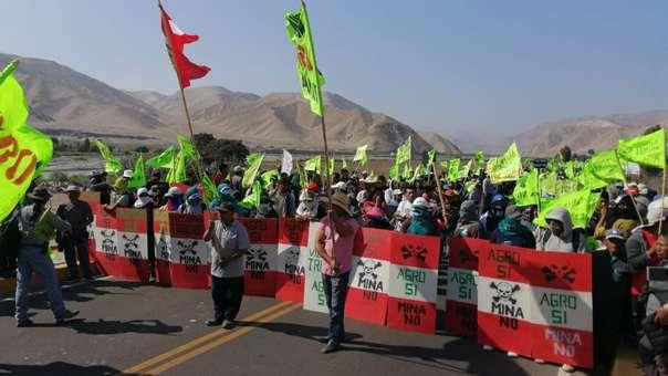 Marcha contra el proyecto Tía María en Arequipa.