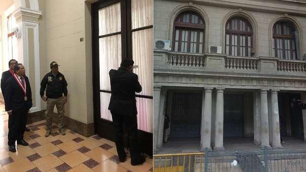Fiscal Sánchez allanó la oficina del exjuez supremo.