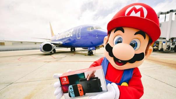 Mario fue el protagonista de un vuelo entre Dallas y San Diego