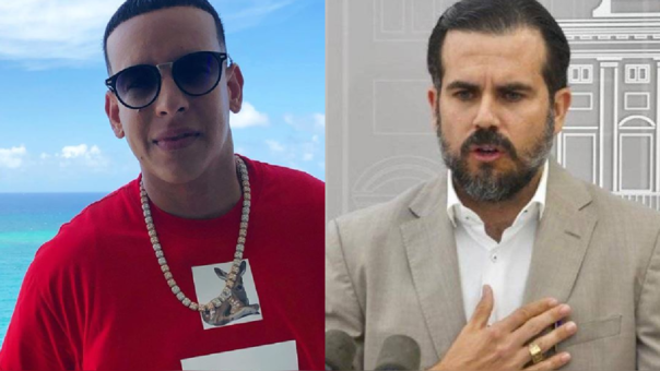 Daddy Yankee y Enrique Rosselló