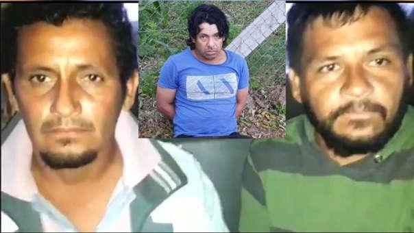 Carlos Vera (izquierda), el capataz Vicente Ramírez (centro) y José Vera (derecha), tres de los detenidos por el cuádruple asesinato.