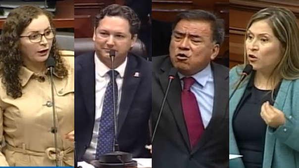 Los congresistas tuvieron un encuentro durante la sesión del Pleno.