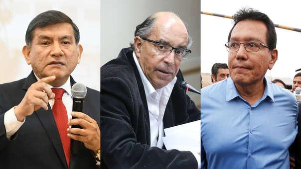 Carlos Morán, Edwin Donayre y Félix Moreno