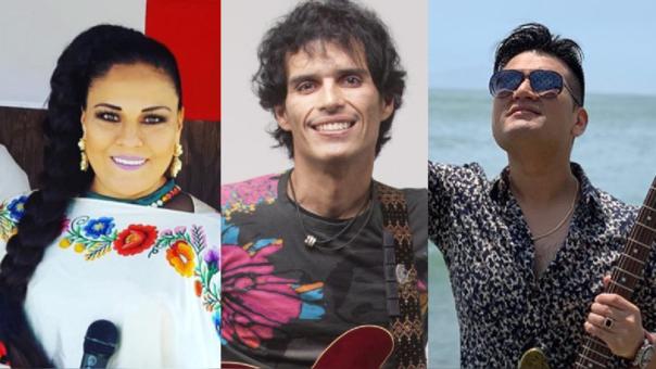 Dina Páucar, la Banda de Pedro Suárez Vértiz y Deyvis Orosco.