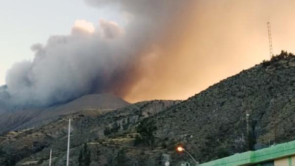 Este último lunes el volcán registró una nueva explosión.