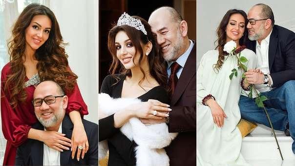 Rihana Oxana Gorbatenkom, de 26 años, y el sultán Mohamed V, de 49.
