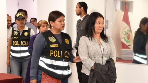 Keiko Fujimori cumple prisión preventiva por el caso Odebrecht.