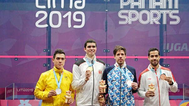 Diego Elías obtuvo la presea dorada en squash en los Juegos Panamericanos Lima 2019